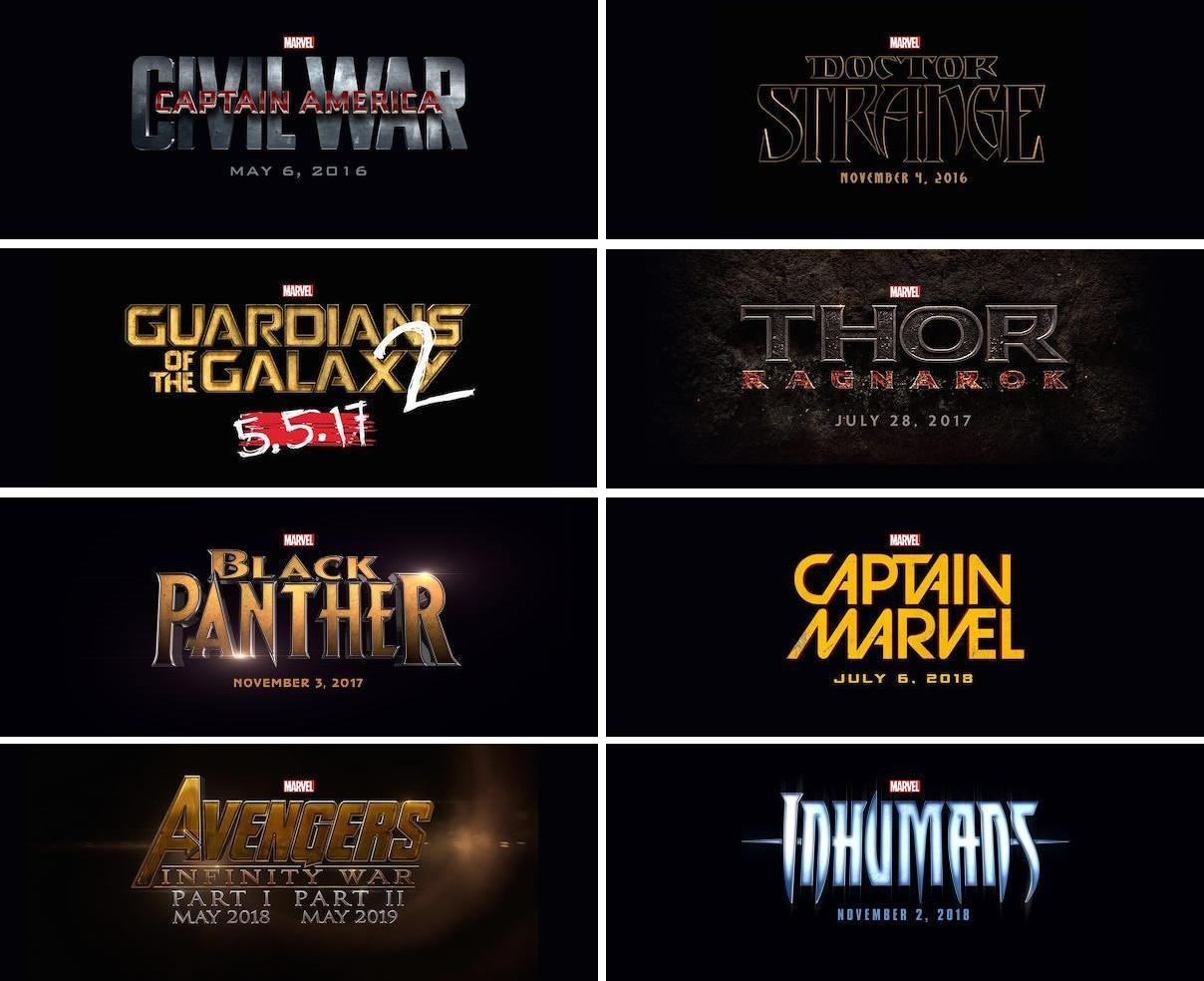marvel film releases
